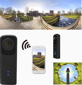 4MP 360° VR camera, Android en iPhone