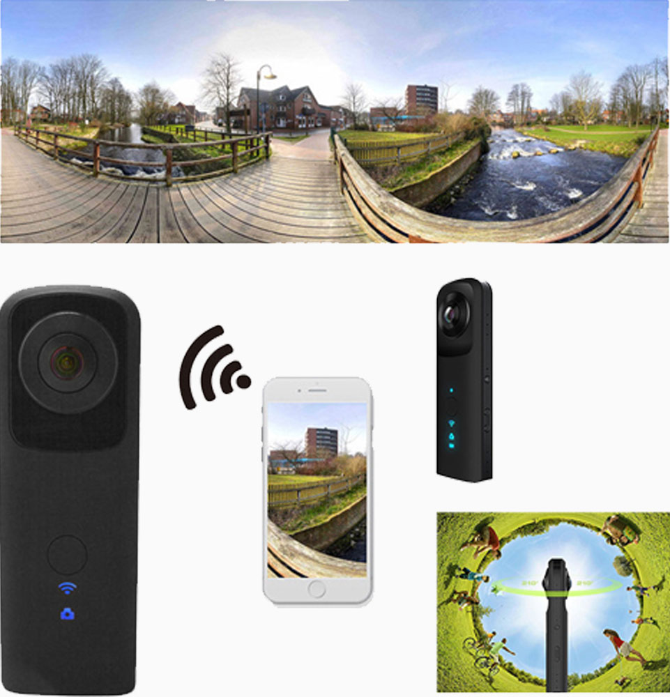4MP 360° VR actie camera voor Android en iPhone