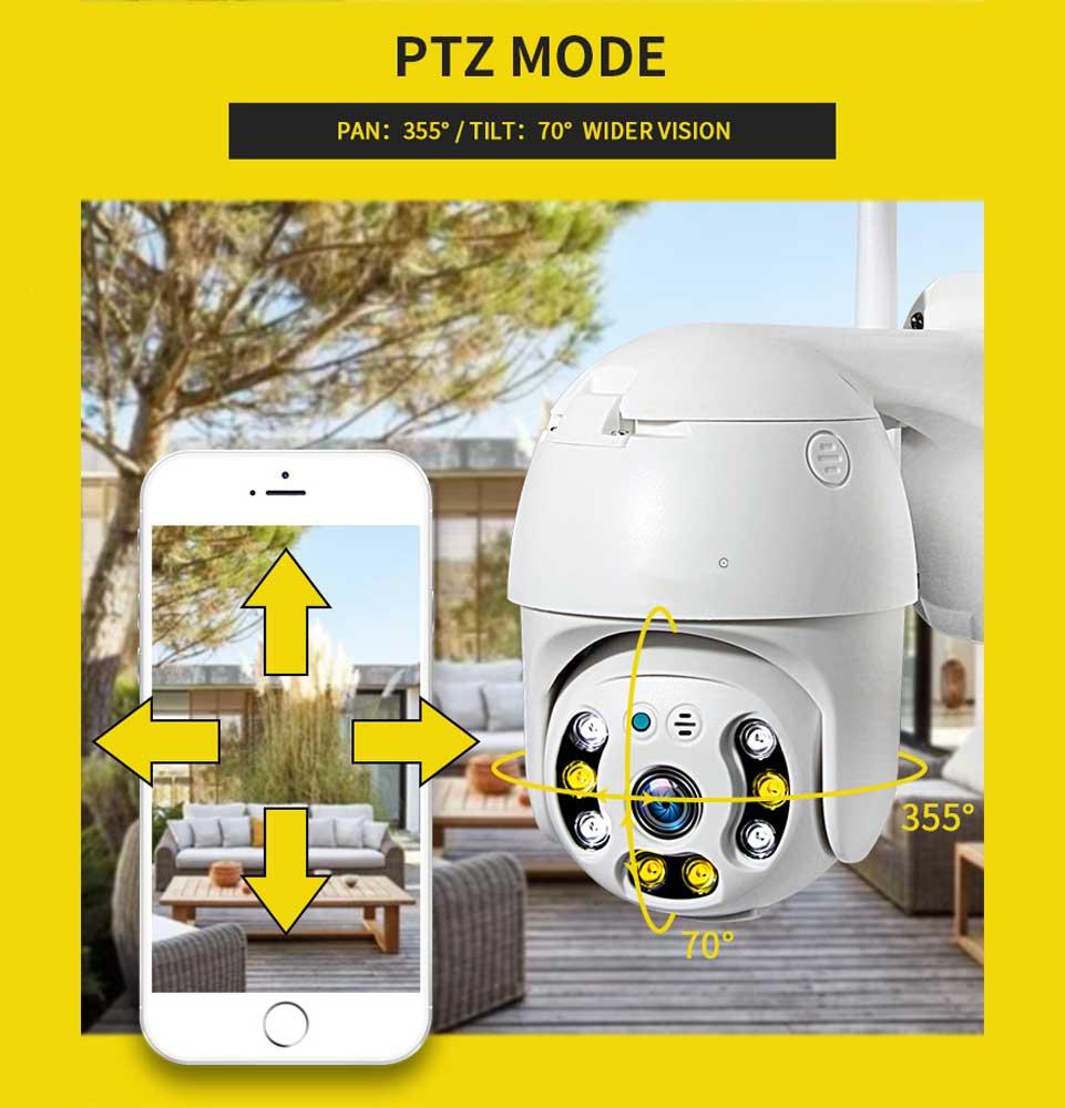 Draaibare wifi camera buiten + app