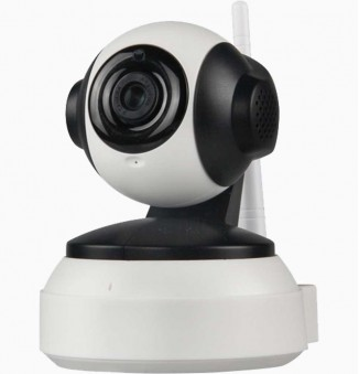 Camerabeveiliging in huis: draaibare HD wifi camera met audio
