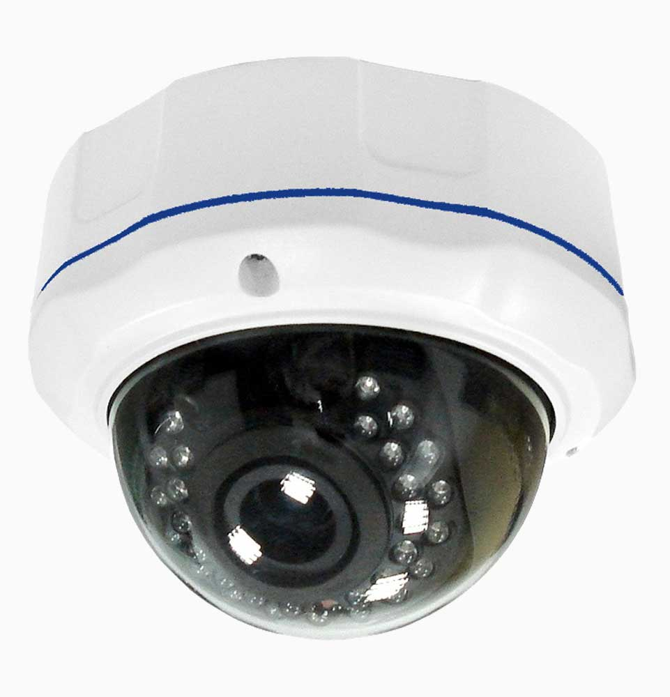 Dome IP camera set, 5 vandaalbestendige camera's