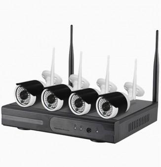 Beveiligingscamera set HD Wifi, écht plug&play zwart wit