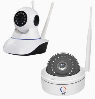 Dome wifi camera set met buiten en binnen camera